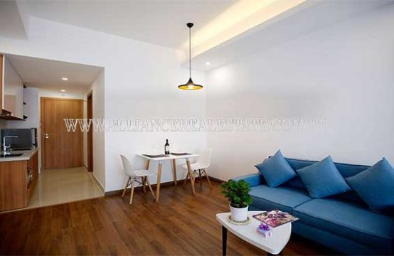 1 bedroom in serviced apartment located at Tran Binh Trong street, Go Vap District.
